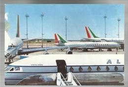 Rara Cartolina  Purtroppo Rovinata A Sinistra Alitalia  Airlines Dc 8 Aereo - 1946-....: Moderne