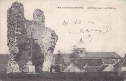 Cp , 51 , CHÂTILLON-sur-MARNE , Les Ruines Du Vieux Château - Châtillon-sur-Marne