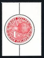 NEW ZEALAND 1991 $1 ROUND RED KIWI** Low Price - Kiwis