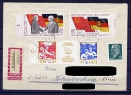 DDR Nr.1759/60 + 1761/2 Streifen.       Sammler Brief Einschreiben Gelaufen     (B127)  (Jahr:1972) Quedlinburg - Covers & Documents