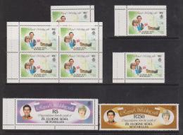 Seychelles Zil Eloigne Sesel 1981 Charles & Diana Royal Wedding Booklet Singles, Panes & 7R50 MNH - Seychelles (1976-...)