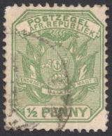 Transvaal, 1/2 P. 1896, Sc # 166, Used (2) - Afrique Du Sud (...-1961)