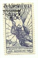 1958 - Cecoslovacchia 945 Paracadutismo C2397, - Paracadutismo
