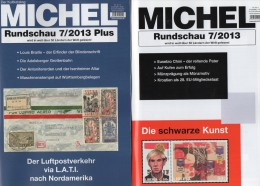 MICHEL Briefmarken Rundschau 7/2013 Und 7 Plus Neu 10€ New Stamps/ Coins Of The World Catalogue And Magacine Of Germany - Télécartes