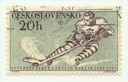 1959 - Cecoslovacchia 1001 Hockey C2401, - Hockey (su Ghiaccio)