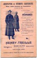 - 71 - MARCIGNY - Catalogue De 50 Pages 1911 Vêtements HENRY-TREILLE - 428 - Moda