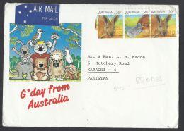 Australia Airmail 1968 Wildlife, Red Kangaroo, G`DAY - From Australia Postal History Cover FromAustralia To Pakistan - 1966-79 Elizabeth II