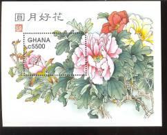 GHANA  2048 ;MINT NEVER HINGED SOUVENIR SHEET OF FLOWERS - ORCHIDS - Plants