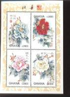 GHANA   2046 ;MINT NEVER HINGED MINI SHEETS OF FLOWERS - ORCHIDS - Plants