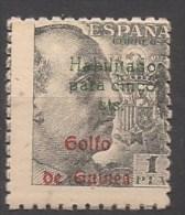 GUI273-A464TCsc.Guinee .GUINEA   ESPAÑOLA FRANCO  Habilitado 1949  (Ed 273**) Sin Charnela. MAGNIFICO - Sin Clasificación