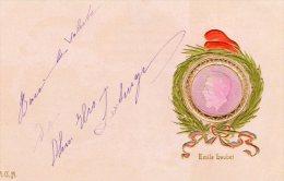 [DC8752] EMILE LOUBET - A.G.M. - STEMMA IN RILIEVO - Old Postcard - Primi '900 - Case Reali