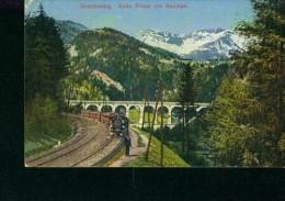 Litho Eisenbahn Zug Dampflokomotive Semmering Kalte Rinne Mit Raxalpe 2.8.1911 - Treni