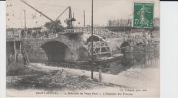 MEUSE- SAINT MIHIEL - La Réfection Du Vieux Pont - Ensemble Des Travaux ( - Timbre à Date De 19.. ? - Petite Animation ) - Saint Mihiel