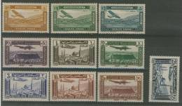 SYRIA 1934 - 1937 VARIOUS AIRMAILS MNH** - Aerei