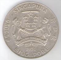 SINGAPORE 10 DOLLARS 1974 AG - Singapore
