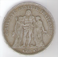 FRANCIA 5 FRANCS 1874 AG - France