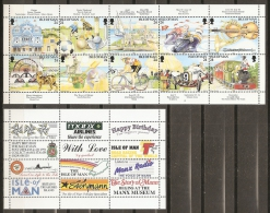 TURISMO - ISLA DE MAN 1994 - Yvert #613/22+C613 - MNH ** - Vacaciones & Turismo