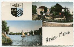 *** Cpsm - ATHIS MONS La Poste Régates Sur La Seine Multivues - 2 Scans - Athis Mons