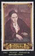 1982 - Asie - Corée  Du Nord - Tableau De Picasso - 35 Ch. Gertrude Stein - - Picasso