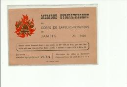 Jambes Membre Sympathisant Du Corps De Sapeurs Pompiers  1975 - Namur