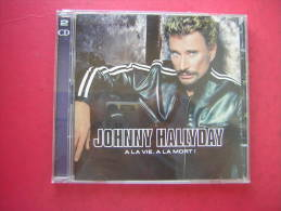 2 CD 12 TITRES ET 11 TITRES  JOHNNY HALLYDAY  A LA VIE A LA MORT - Musique & Instruments