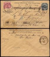 Württemberg 1892 Postanweisung AU 43 Mit Zusatzfrankatur K1Nürtingen > Stuttgart Mi.€ 35,-+ - Wuerttemberg