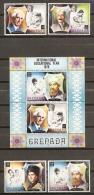 GRENADA 1971 - Yvert #380/83+H12 - MNH ** - Grenada (1974-...)