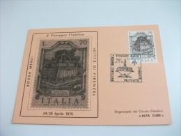 2° Convegno Filatelico Borsa Merci Città Di Firenze 1976 - Manifestazioni