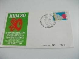 Mida 80  2° Mostra Italiana D'acquariofilia Ed Erpetologia Novegro Milano 1980 - Manifestazioni