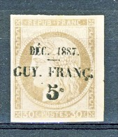 Guyana Dic 1887 N. 6 C. 5 Su C. 30 Bruno Del 1872 MNG Cat. € 170 Timbri Garanzia Al Verso - Nuevos