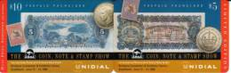 AUSTRALIA PUZZLE OF 2 STAMPS COIN MONEY BANKNOTE BRISBANE 1998 ANDA FAIR $5 CARD 500 ONLY !!!!!! READ DESCRIPTION !! - Australia
