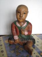 Statuette Bois / Enfant / Pays Non Connu - Bois