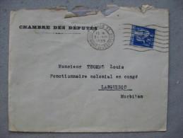 Timbre Sur Enveloppe: Paix 1939 - France