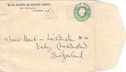 -> Entier Postal Anglais Timbré Sur Commande Thème Planteur De Thé, Importation - Getränke