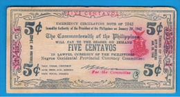 FILIPINAS - PHILIPPINES  -  COMMONWEALT - 5 Centavos 1942  S-640 - Filipinas