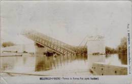 Belleville-s/Saone – Travaux Du Nouveau Pont (après L'accident), Carte-photo Reverdy - Belleville Sur Saone