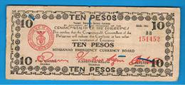 FILIPINAS - PHILIPPINES  -  GUERRILLAS - MINDANAO - 10 Pesos 1943  Serie BB - Philippines