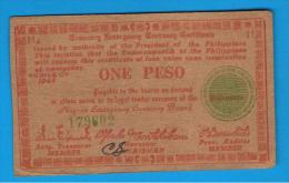 FILIPINAS - PHILIPPINES  -  GUERRILLAS - NEGROS - 1 Peso 1944  Serie H4 - Filipinas