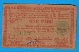 FILIPINAS - PHILIPPINES  -  GUERRILLAS - NEGROS - 1 Peso 1944  Serie H3 - Filipinas