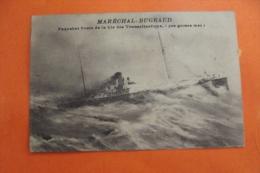 Cp Marechal Bugeaud Paquebot Poste De La Cie Transatlantique  ( Par Grosse Mer) - Piroscafi