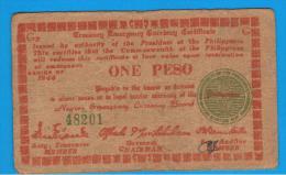 FILIPINAS - PHILIPPINES  -  GUERRILLAS - NEGROS - 1 Peso 1944  Serie G3 - Filipinas