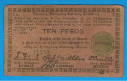 FILIPINAS - PHILIPPINES  -  GUERRILLAS - NEGROS - 10 Pesos 1944  Serie E2 - Filipinas