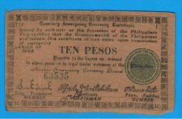 FILIPINAS - PHILIPPINES  -  GUERRILLAS - NEGROS - 10 Pesos 1944  Serie H3 - Filipinas