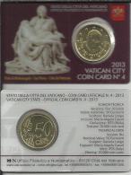 VATICANO COIN CARD NUM 4 LA PIEDAD DE MIGUEL ANGEL 2013 - Vaticano (Ciudad Del)