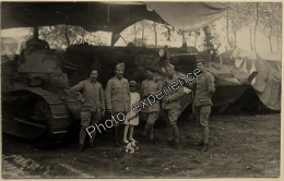 CPA Carte Photo Militaire Guerre 14-18 ? Char Tank Military WW1 ? - Guerre, Militaire
