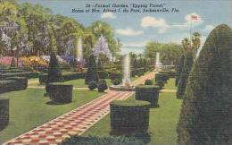 Florida Jacksonville Formal Garden Epping Forest Home Of Mrs Alfred I Du Pont - Jacksonville