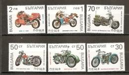 Bulgarie Bulgaria 1992 N° 3454 / 9 ** Motos, Motocyclette, Laurin Et Klément, Norton, Puch, Harley-Davidson, Gilera, BMW - Bulgarien