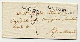 P.R-(315)::PREFILATELICA 1856  DA CHIAVARI  X  SESTRI LEVANTE - ...-1850 Préphilatélie
