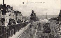 LIMOGES AVENUE DE LA GARE BEAU PLAIN TRAIN - Limoges