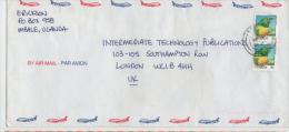 Lettre  OUGANDA   Coucou   /  Letter UGANDA Emerald Cuckoo - Cuckoos & Turacos
